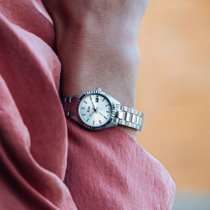 SKU-47976 / JCOU Queen's Petit Silver Stainless Steel Bracelet