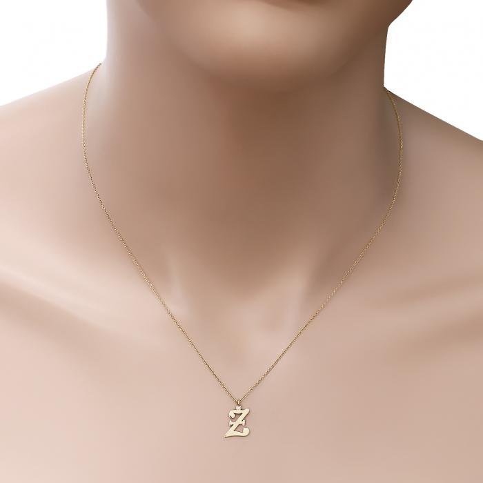 Κολιέ Μονόγραμμα Ξ Χρυσός Κ14 με Διαμάντι