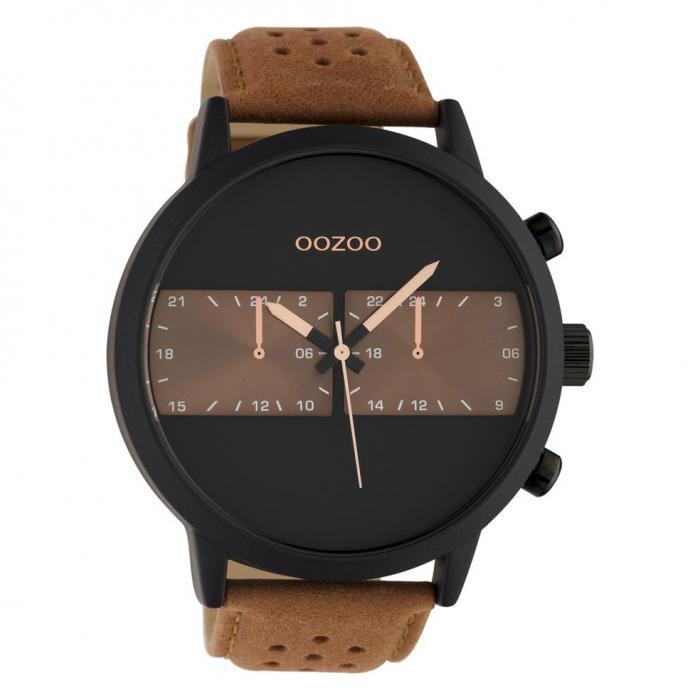 SKU-47360 / OOZOO Timepieces Brown Leather Strap