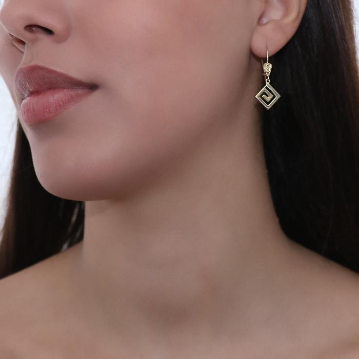SKU-47290 / Σκουλαρίκια Κρεμαστά Χρυσός Κ14