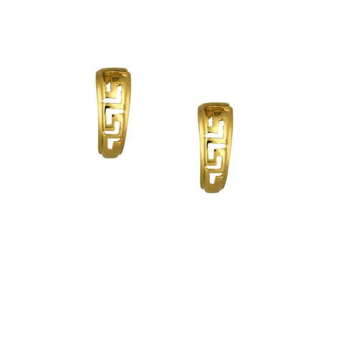 SKU-47303 / Σκουλαρίκια Κρεμαστά Χρυσός Κ14