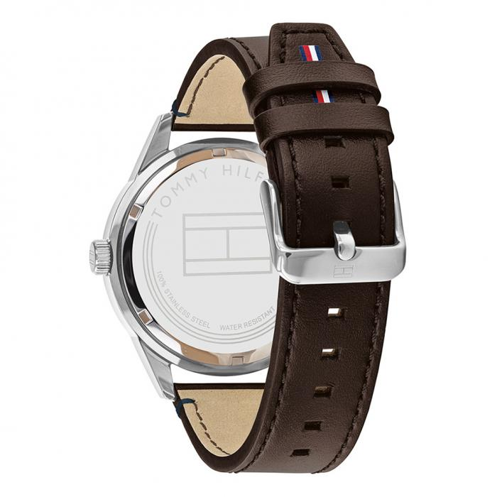 SKU-47169 / TOMMY HILFIGER Austin Brown Leather Strap