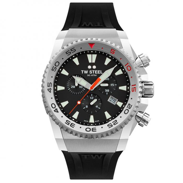 SKU-47166 / TW STEEL Ace Diver Chronograph Black Rubber Strap
