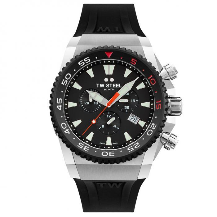 SKU-47167 / TW STEEL Ace Diver Chronograph Black Rubber Strap