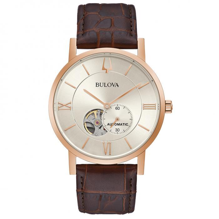 SKU-48488 / BULOVA Automatic Brown Leather Strap