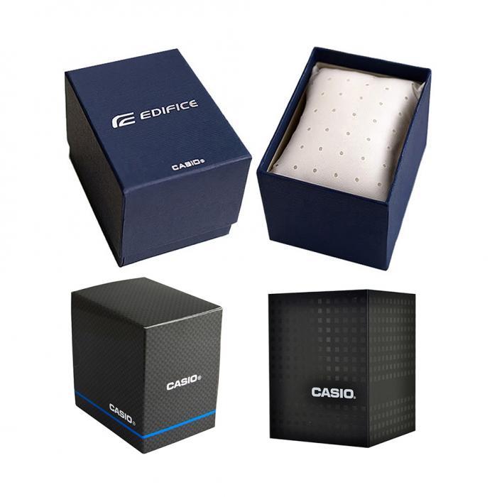 SKU-48522 / CASIO Edifice Chronograph Black Leather Strap