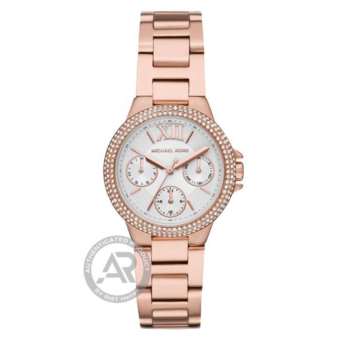 SKU-48076 / MICHAEL KORS Camille Crystals Rose Gold Stainless Steel Bracelet