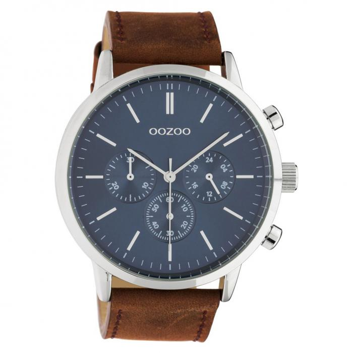 SKU-48266 / OOZOO Timepieces Summer Brown Leather Strap