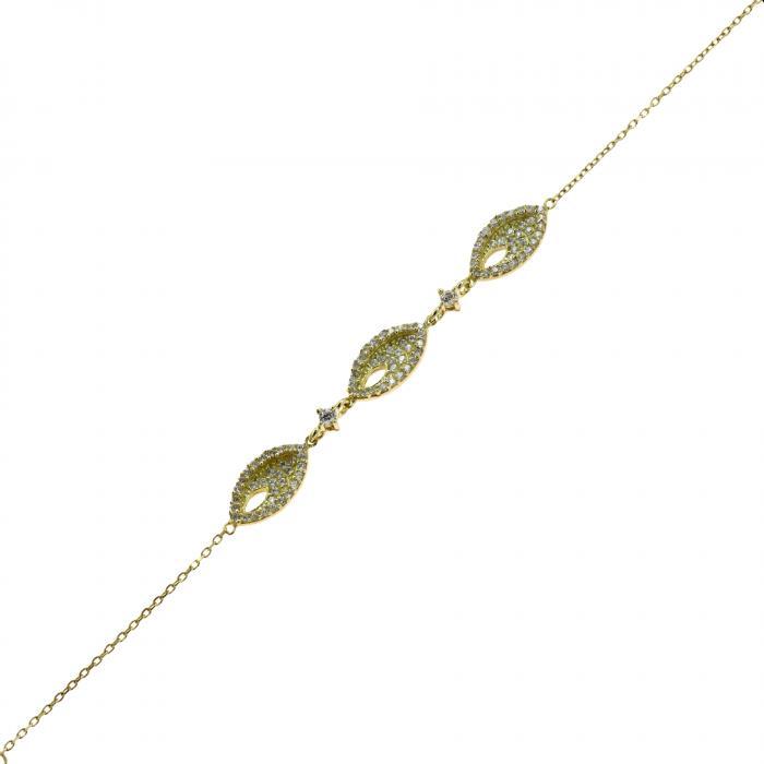 SKU-48865 / Βραχιόλι Χρυσός Κ14 με Ζιργκόν