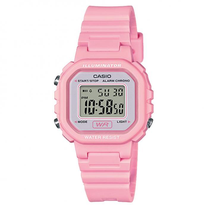 SKU-48523 / CASIO Digital Chronograph Pink Rubber Strap