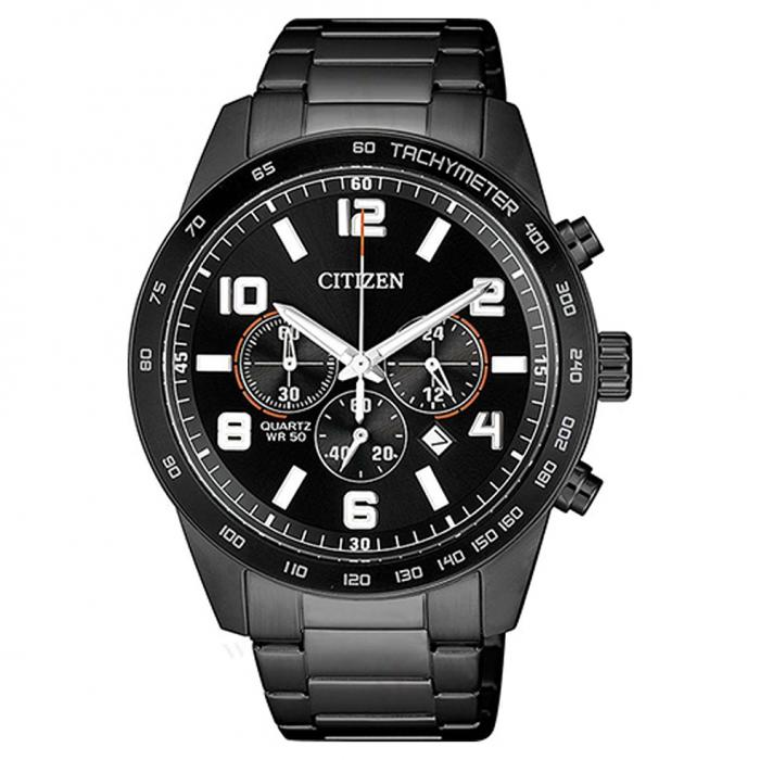 SKU-48174 / CITIZEN Chronograph Black Stainless Steel Bracelet