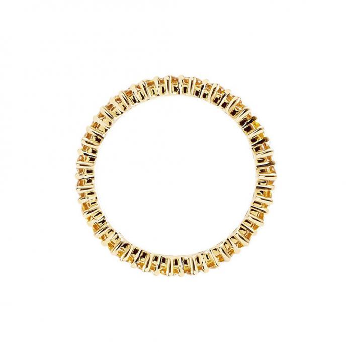 Δαχτυλίδι Ολόβερο PDPAOLA Υellow Bird Ασήμι 925° με Ζιργκόν