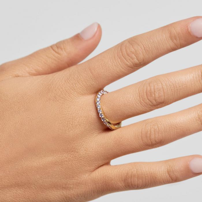 Δαχτυλίδι PDPAOLA Cavalier Ασήμι 925° με Ζιργκόν