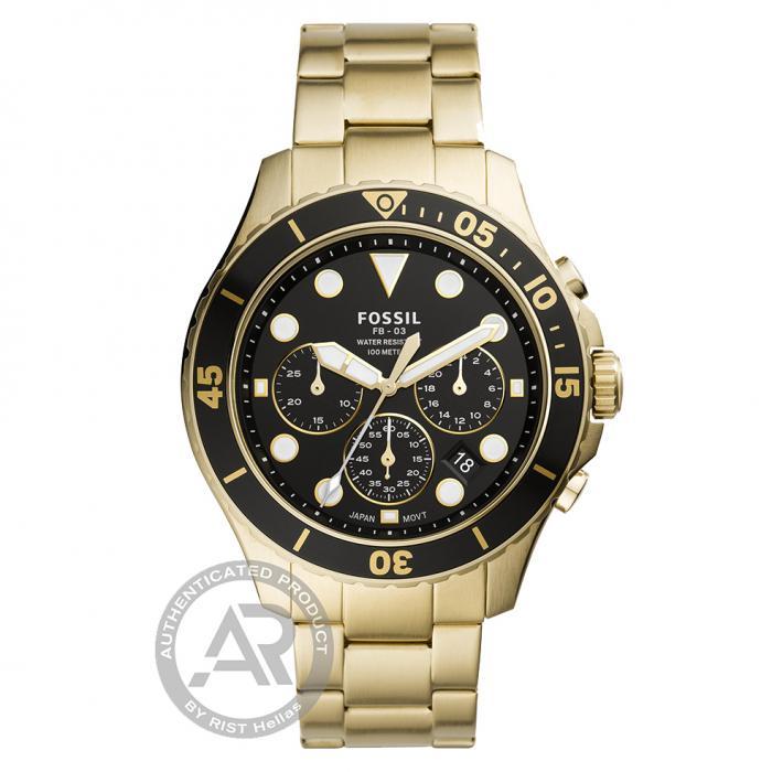 SKU-48261 / FOSSIL FB-03 Chronograph Gold Stainless Steel Bracelet