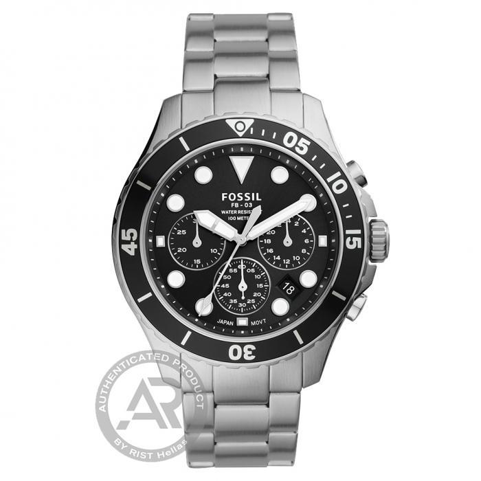 SKU-48259 / FOSSIL FB-03 Chronograph Stainless Steel Bracelet