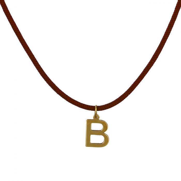 Κολιέ Μονόγραμμα B Χρυσός Κ14