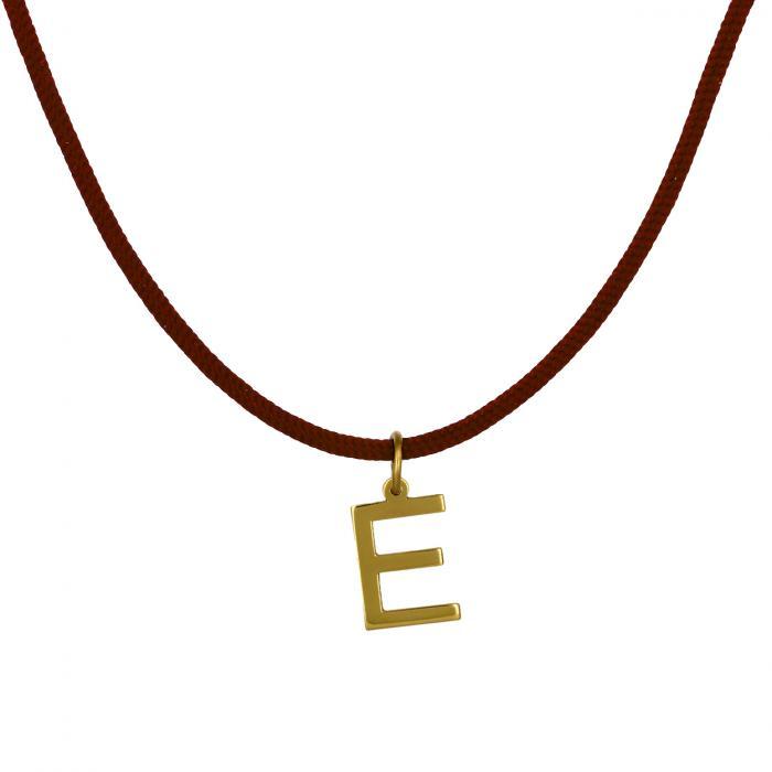 Κολιέ Μονόγραμμα E Χρυσός Κ14