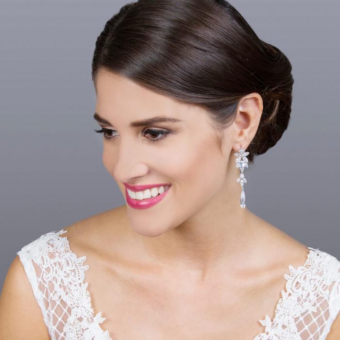 Σκουλαρίκια Gloria Hope Silver