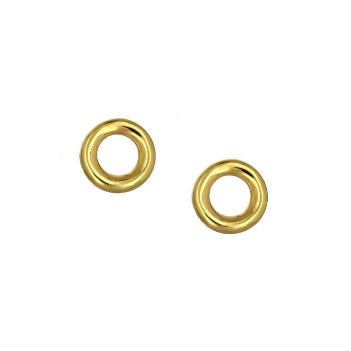 SKU-48550 / Σκουλαρίκια Καρφωτά Κρίκος Χρυσός Κ14