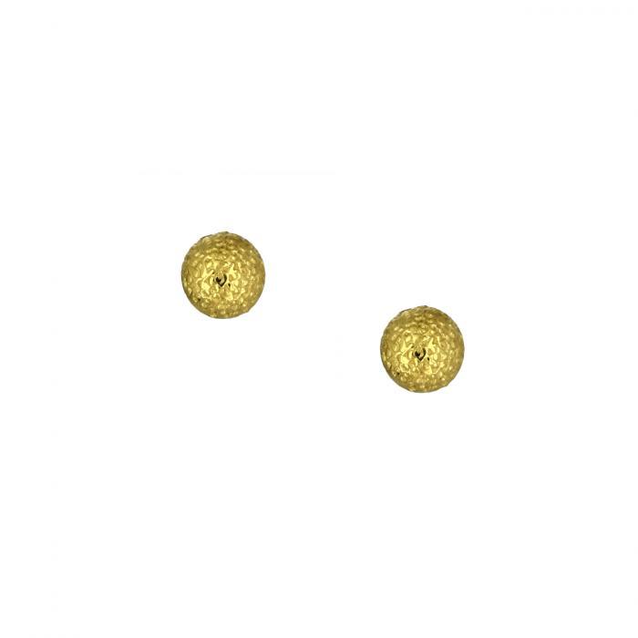 SKU-48518 / Σκουλαρίκια Καρφωτά Μπίλια Χρυσός Κ9