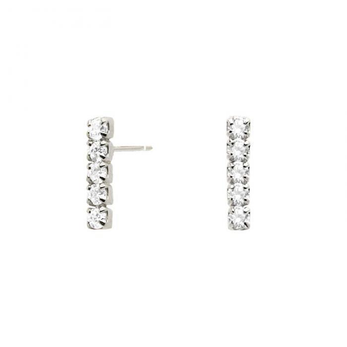 SKU-48866 / Σκουλαρίκια Κρεμαστά PDPAOLA Kira Silver Ασήμι 925° με Ζιργκόν
