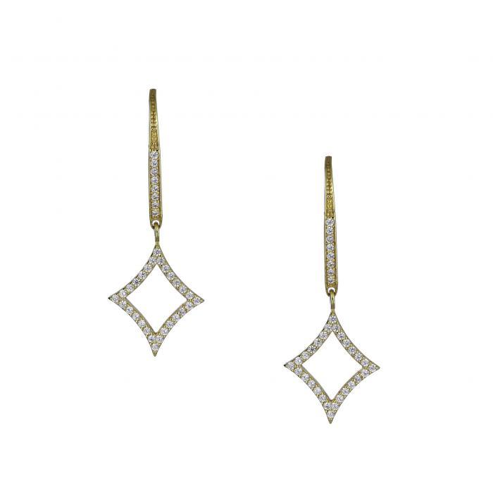 SKU-48975 / Σκουλαρίκια με Κλιπ Χρυσός Κ14 με Ζιργκόν