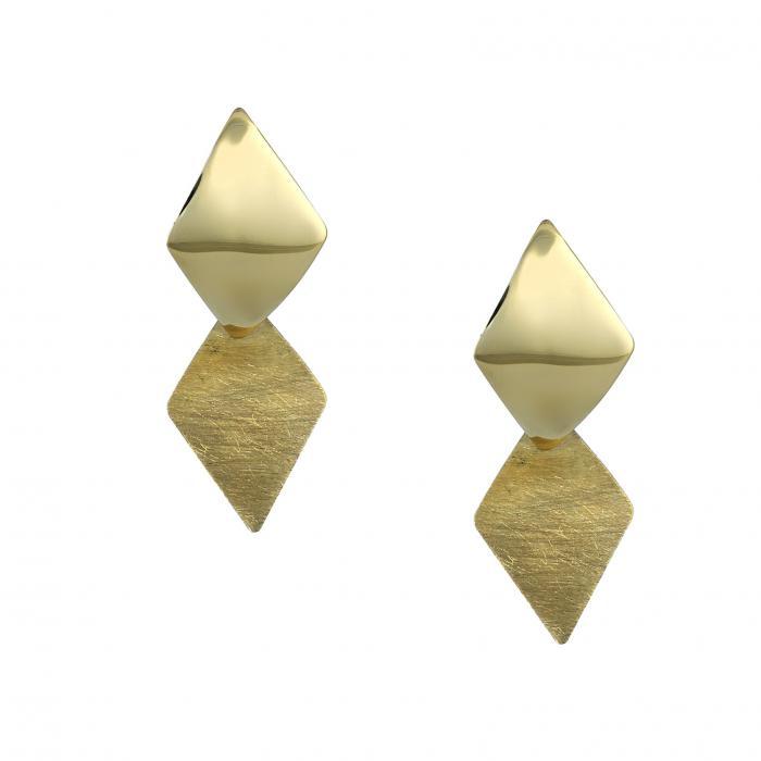 SKU-48808 / Σκουλαρίκια με Κλιπ Χρυσός Κ14