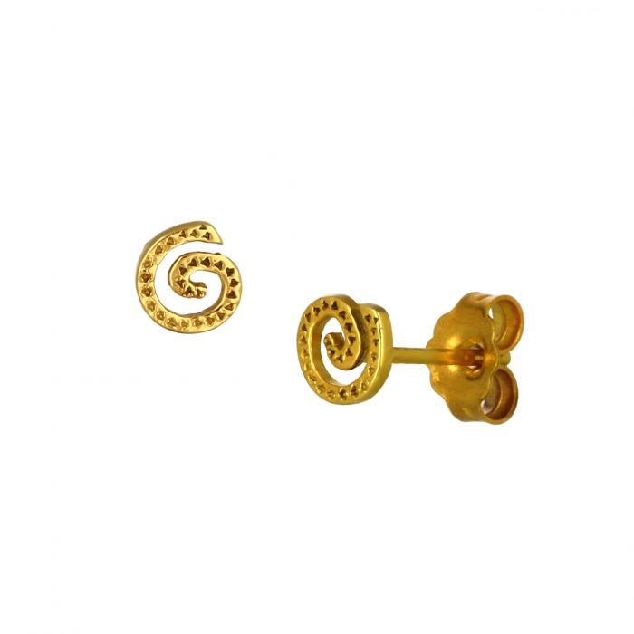 SKU-48516 / Σκουλαρίκια Χρυσός Κ9 σε Αρχαιοελληνικό Ύφος