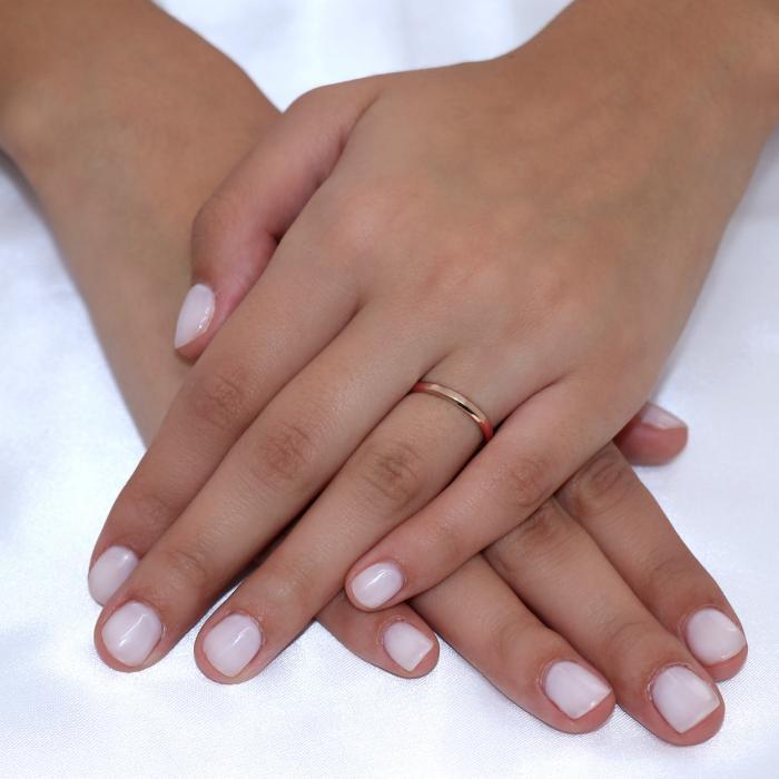 Βέρες Γάμου Jeweler με Φάλτσο Ροζ Χρυσός Κ9-Κ14-Κ18