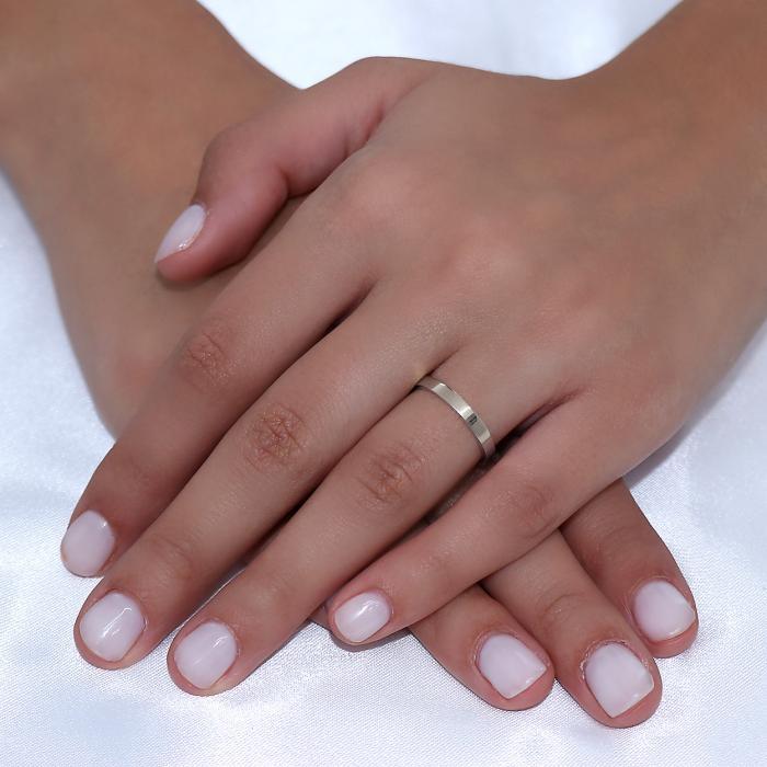 Βέρες Γάμου Jeweler Τετράγωνες Ανατομικές Λευκόχρυσος Κ9-Κ14-Κ18