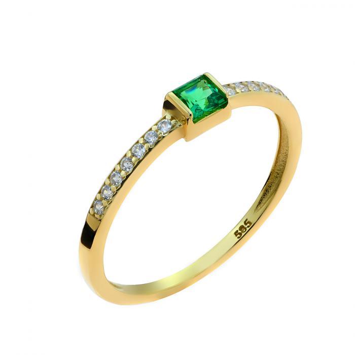 SKU-49314 / Δαχτυλίδι Χρυσός Κ14 με Ζιργκόν