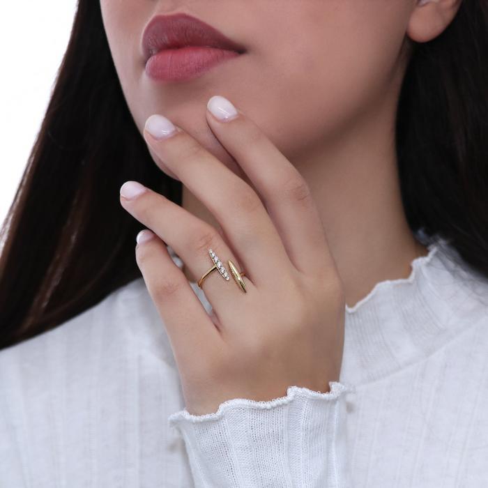 Δαχτυλίδι Χρυσός Κ18 με Διαμάντια