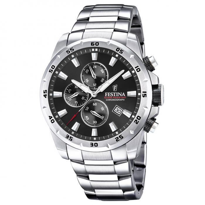 SKU-49553 / FESTINA Chronograph Silver Stainless Steel Bracelet