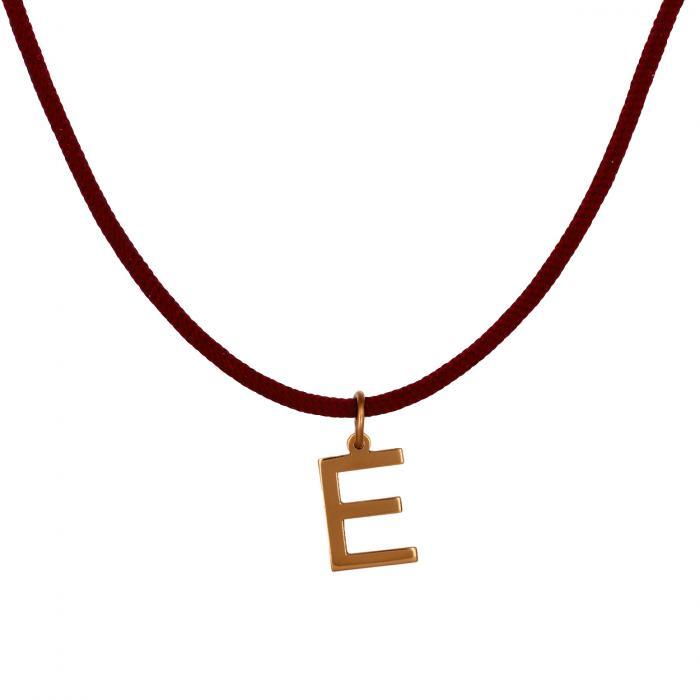Κολιέ Μονόγραμμα E Ροζ Χρυσός Κ14