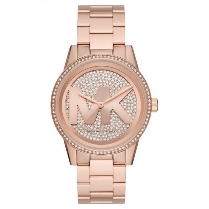 SKU-49471 / MICHAEL KORS Ritz Rose Gold Crystals Stainless Steel Bracelet