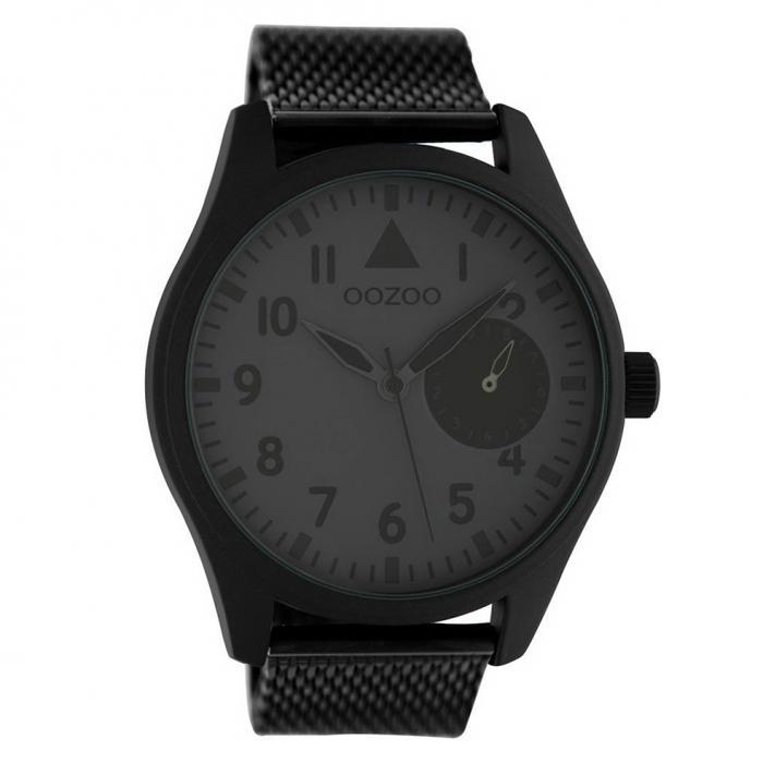 SKU-49572 / OOZOO Black Mesh Black Stainless Steel Bracelet