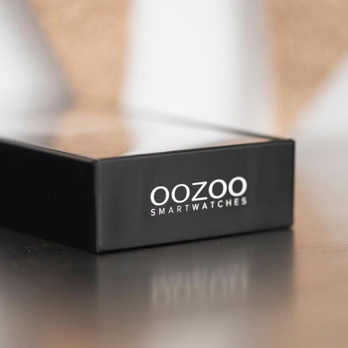OOZOO Smartwatch Βlack Rubber Strap