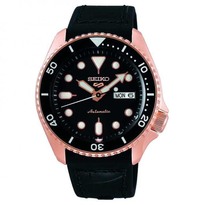 SKU-49805 / SEIKO 5 Sports Automatic Black Silicone Strap