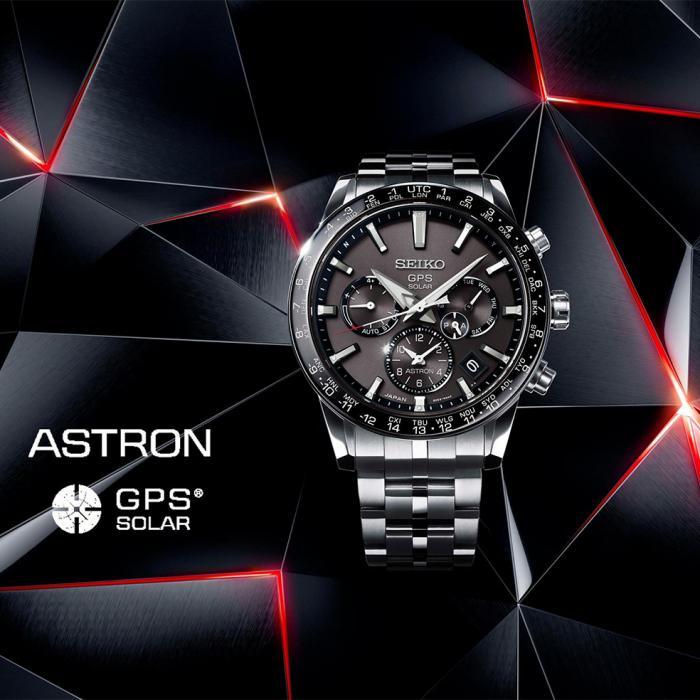SKU-49798 / SEIKO Astron GPS Solar Silver Titanium Bracelet