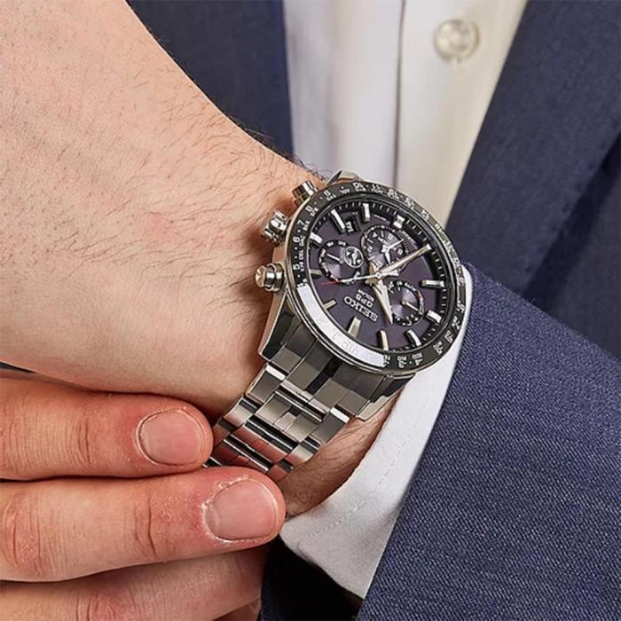 SEIKO Astron GPS Solar Silver Titanium Bracelet