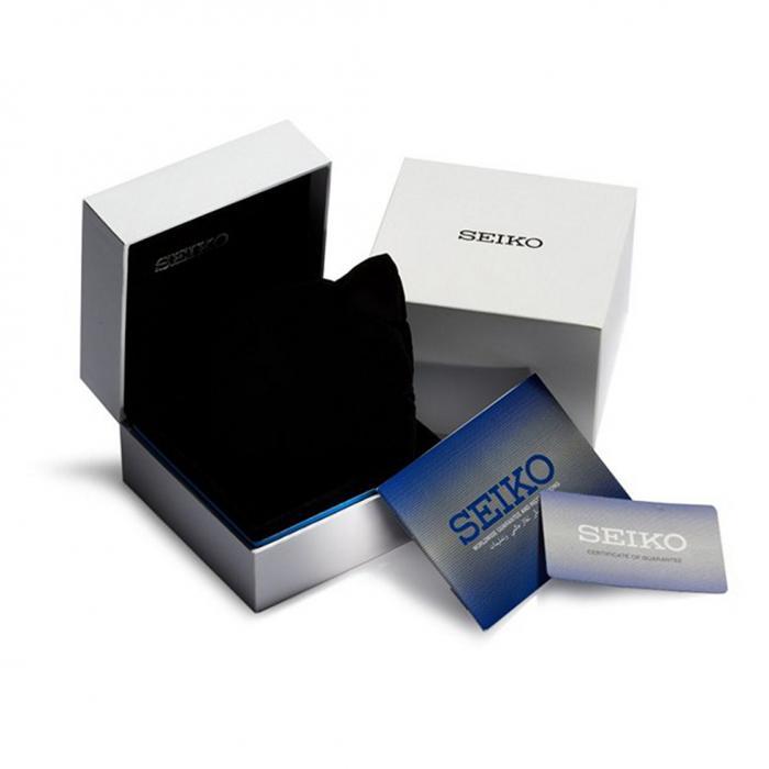 SKU-49781 / SEIKO Chronograph Black Silicone Strap