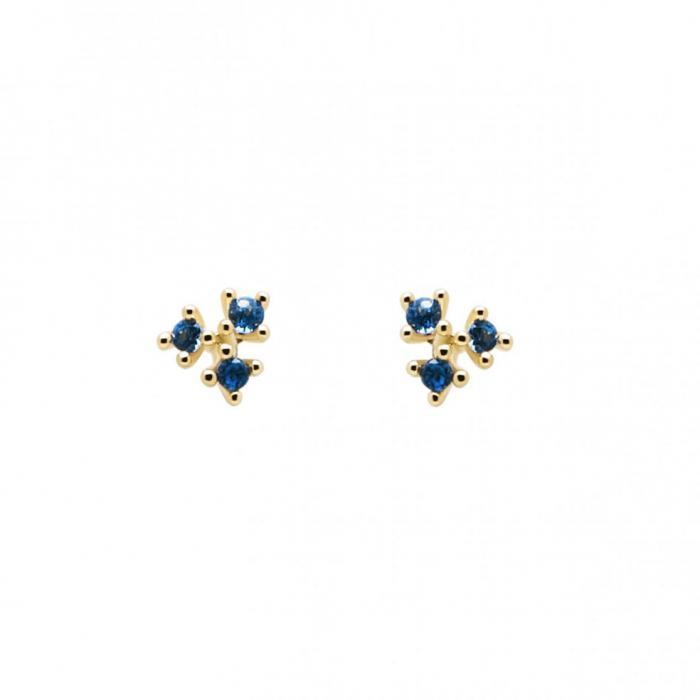 SKU-49057 / Σκουλαρίκια Καρφωτά PDPAOLA Daisy  Ασήμι 925° με Ζιργκόν
