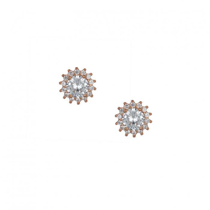SKU-49203 / Σκουλαρίκια με Κλιπ Ασήμι 925° με Ζιργκόν