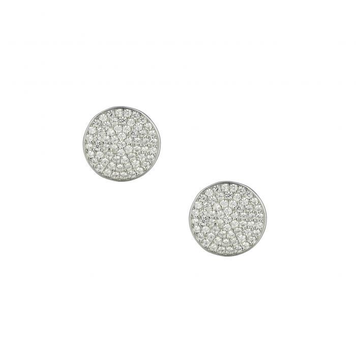 SKU-49256 / Σκουλαρίκια με Κλιπ Ασήμι 925° με Ζιργκόν