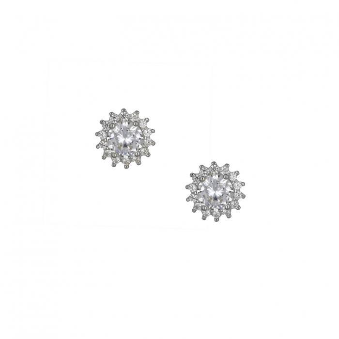 SKU-49197 / Σκουλαρίκια με Κλιπ Ασήμι 925°