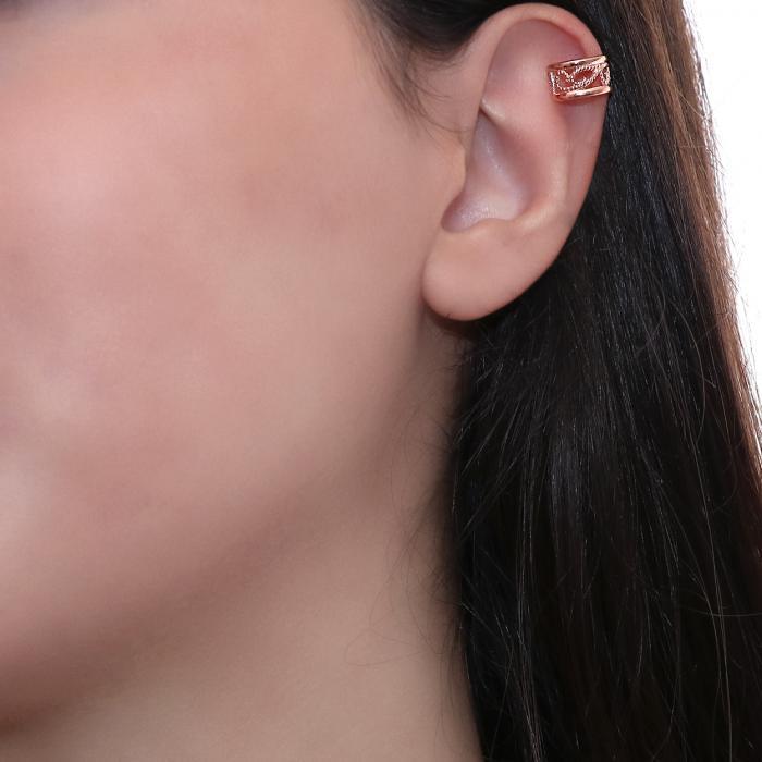 SKU-49563 / Σκουλαρίκια Κρίκοι Ροζ Χρυσός Κ9