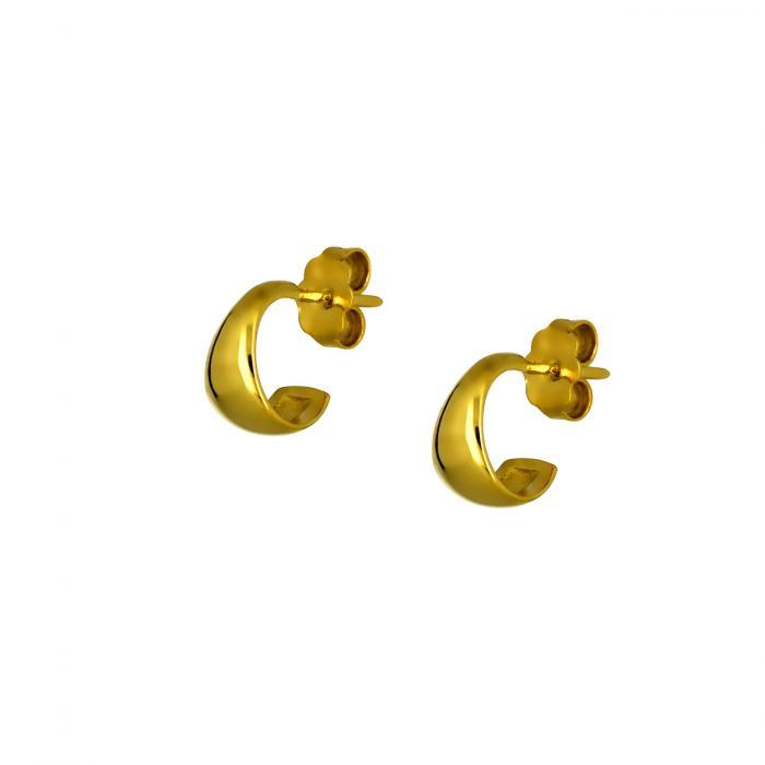 SKU-49340 / Σκουλαρίκια Κρίκοι Χρυσός Κ14