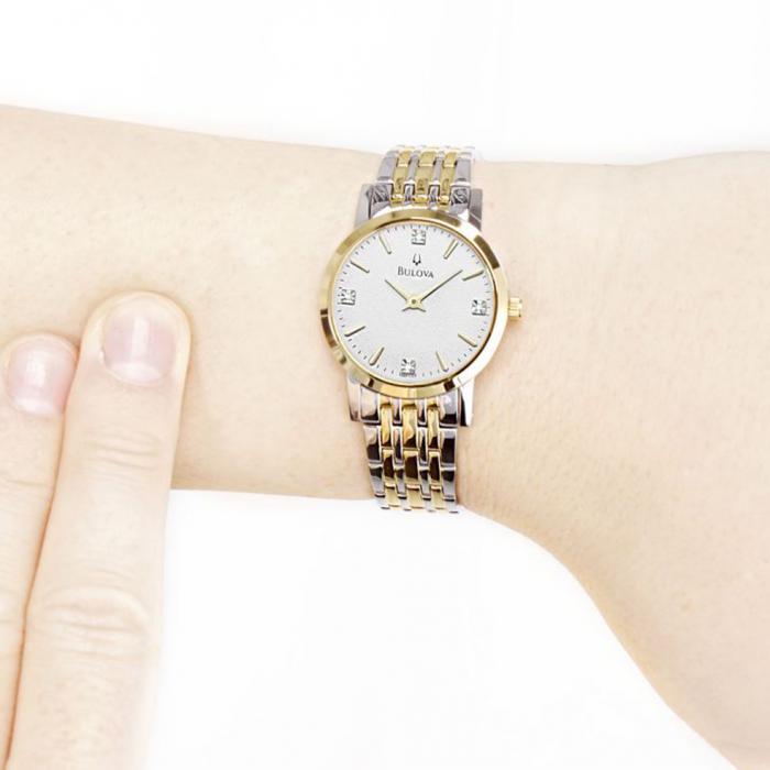 SKU-50541 / BULOVA Classic Diamonds Two Tone Stainless Steel Bracelet