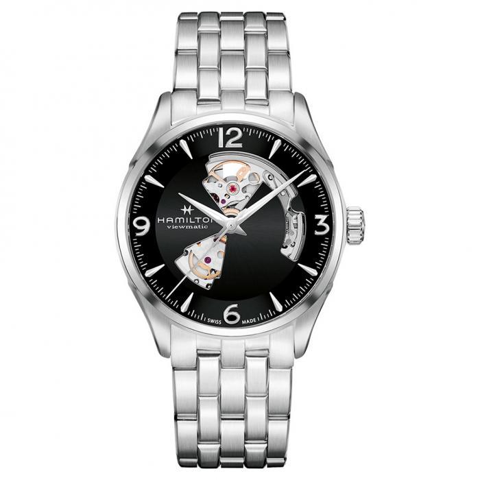 SKU-50554 / HAMILTON Jazzmaster Open Heart Automatic Stainless Steel Bracelet