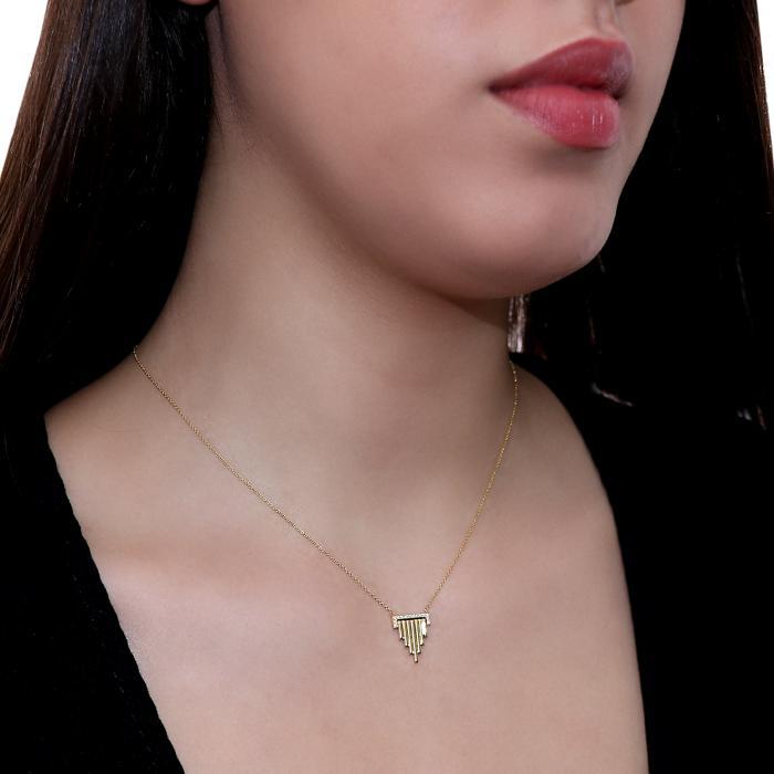 Κολιέ Χρυσός Κ18 με Διαμάντια